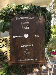 In Spanish Bienvenidos Welcome Sign Wedding Decal Wooden Board Glass Custom Name Unique Wedding Sticker Decor Waterproof Lc837 Wall Stickers Aliexpress