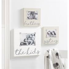 The Kids Planked Wood Plaque Picture Frame Shop Mud Pie Now Mud Pie