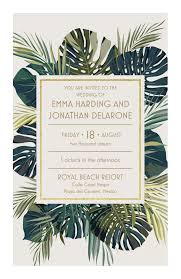 Palm Leaves Wedding Invitation Vistaprint Invitaciones De Boda
