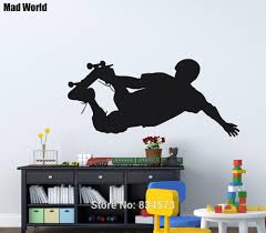 Skate Skateboard Extreme Sports Skateboarder Wall Art Stickers Wall Decals Home Diy Decoration Removable Decor Wall Stickers Wall Stickers Aliexpress