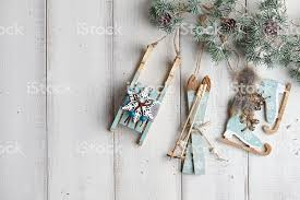Christmas Decorations On Wooden Background Stock Photo Download Image Now Istock