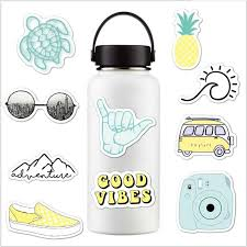 Vsco Stickers Pack 10pcs Cute Stickers Aesthetic Stickers Vinyl Vsco Decals For Hydro Flask Water Bottle Teens Girls Laptop Ipad Laptop Skins Aliexpress