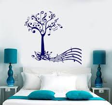Wall Vinyl Decal Music Tree With Notes And Musical Key Note Etsy