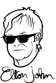 Elton John Music Artist Vinyl Decal Stic Buy Online In Georgia At Desertcart