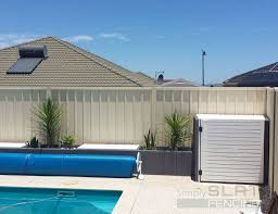 Aluminium Slat Pool Equipment Enclosures Simply Slat Fencing