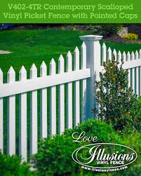 Pointed Picket Cap Illusions Fence