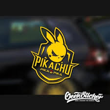 Cool Pikachu Car Decal Sticker Waterproof Reflective Exterior Decals For Mazda Rx7 Suzuki Vw Beetle Infiniti Q50 Bmw E46 Geeksticker