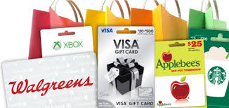 retail gift cards prepaid debit cards