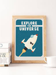 Explore Quote Print Kids Space Art Explore Kids Nursery Etsy