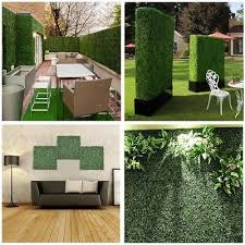 24pcs Artificial Uv Boxwood Mat Wall Hedge Decor W Ties Grass Fake Fence 10x10 657258010567 Ebay Artificial Boxwood Outdoor Decor Outdoor Privacy