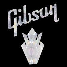 Gibson Crown Pack Faux Mother Of Pearl Standard Water Slide Decal Guitar Headstock Logo Decals
