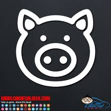 Cute Pig Car Vinyl Decal Sticker Graphic Animal Decals