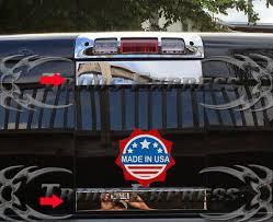 Fit 2009 2018 Dodge Ram Sliding Rear Window Tailgate Trim Molding Decal Cover 2p Ebay