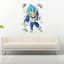 Vegeta Dragon Ball Super Anime Wall Sticker Vinyl Decal Mural Poster Ebay