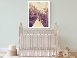 Teepee Print Boho Nursery Wall Art Western Wall Decor Art Kids Etsy