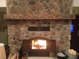 rustic timber fireplace mantel mini