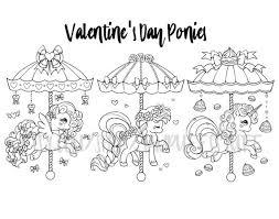 Seizoensgebonden Carrousel Pony Pack 17 Kleurplaten Kerstmis Etsy