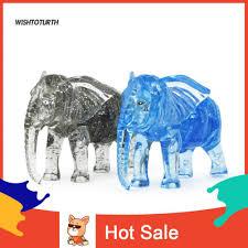 Đồ chơi lắp ráp 3D DIY hình con voi pha lê dễ thương cho bé