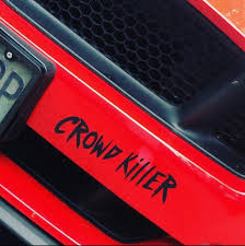 2 Pack Crowd Killer Car Decal Etsy