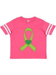 Lime Green Heart Ribbon Toddler T Shirt Walmart Com Walmart Com