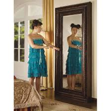 large floor mirror with jewelry