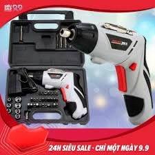 Shop bán Bộ máy khoan và vặn ốc vít đa năng có sạc tích điện Joust Max  (Trắng) -Khoan băn vit không dây - dùng pin 4.8V, máy khoan, bắn vit, máy