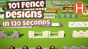 101 Fence Designs In 260 Seconds Minecraft Youtube