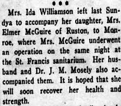 Mrs. Elmer McGuire The Bienville Democrat - 02 NOV 1922 - Newspapers.com