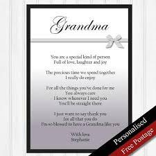 grandma gifts personalised birthday