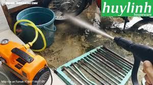 Đánh giá Máy rửa xe Fumak F184 F186 F189 - Motor từ - YouTube