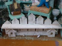 Picket Fence Wall Shelf Shabby Cottage Chic Diy Furniture Flip Diy Decor Shabby Chic Cottage