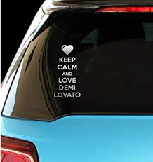 Amazon Com Pressfans Keep Calm And Love Demi Lovato Car Laptop Wall Sticker Automotive