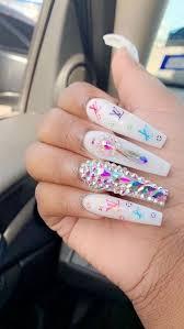 designer nails lv uploaded by