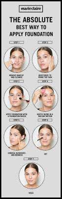 how to apply makeup step by step images