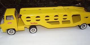 Vintage 1960 S Tonka Car Carrier Hauler Pressed Steel Truck Mound Minn Car Carrier Toy Trucks Tonka