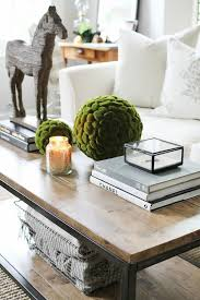 how to style a coffee table coffee