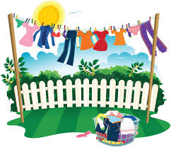 Washing Line And Clothes Stock Vector Illustration Of Hanging 67646301