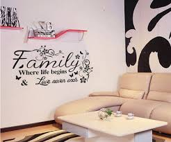 family wall quotes decal wall stickers art flower decoration for