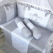 grey cloud luxury baby crib bedding set
