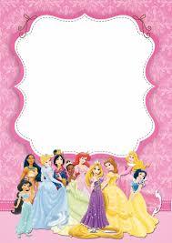 Princesas Disney Invitaciones Para Imprimir Gratis