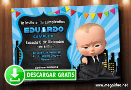 Invitacion Digital Jefe En Panales Gratis Baby Boss Invitation