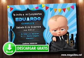 Invitacion Digital Jefe En Panales Gratis Baby Boss Invitation Mega Idea