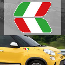 2pcs Italian National Italy Flag Window Decal Stickers Universal Reflective Side Fender Badge For Fiat For Abarth Car Stickers Aliexpress