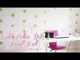 Diy Gold Polka Dots Accent Wall Using Wall Decals Youtube