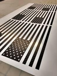 Carbon Fiber American Flag Vinyl Styles