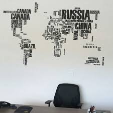 World Map Wall Sticker Text Kids Educational Maps Country Decal Wallpaper Mural Words Letter 116 190cm Classroom Home Decoration Home Decor World Map Countriesmap Wall Sticker Aliexpress