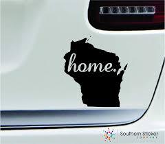 Amazon Com Expressdecor 2 Home Wisconsin Symbol Decal Family Love Car Truck Sticker Window Black Automotive