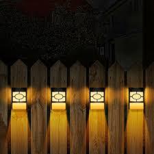 Yard Garden Outdoor Living Solar Lights Outdoor Fence Post Lights Wall Mount Decorative Deck Lighting Black Tiendakimchi Com Ar