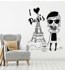 Vinyl Wall Decal Love Paris Eiffel Tower French Fashion France Stickers G2265 Ebay