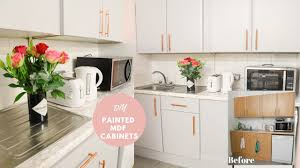 how to paint laminate mdf kitchen